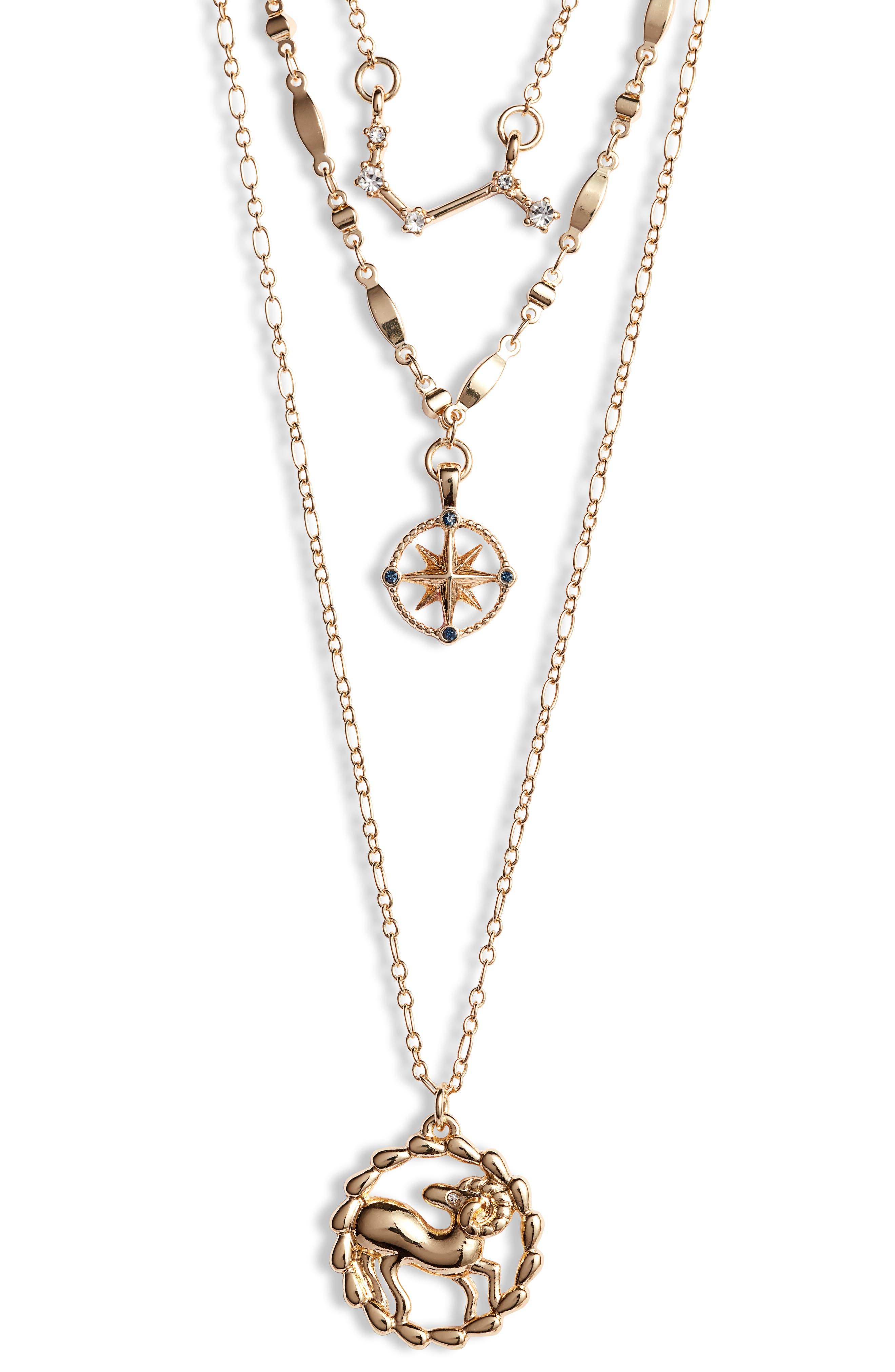 Astrological Layered Pendant Necklace