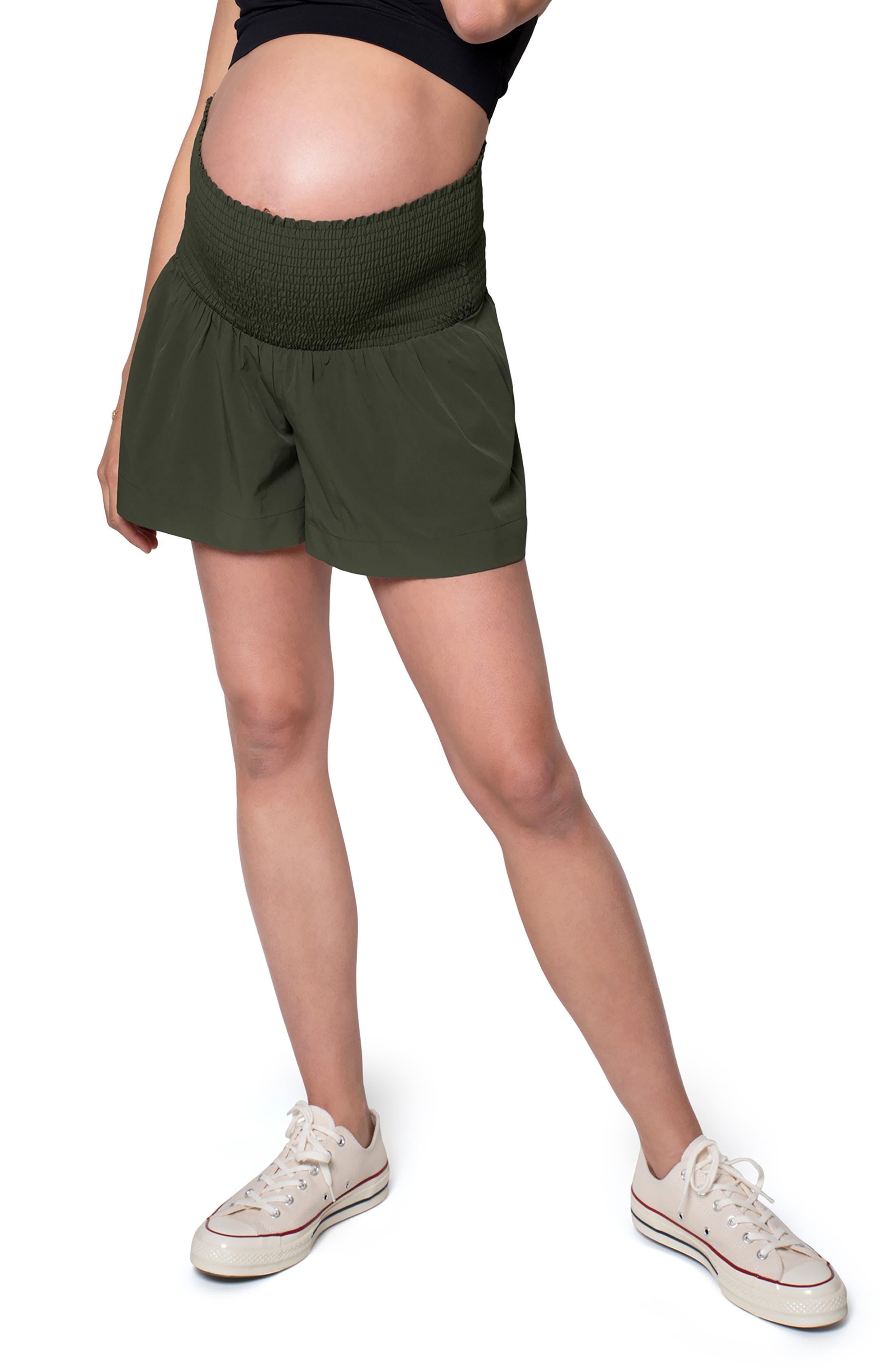 Women's Ingird & Isabel Everywear Smocked Maternity Shorts