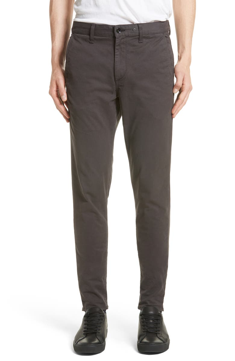RAG & BONE Fit 1 Skinny Fit Chinos, Main, color, GREY