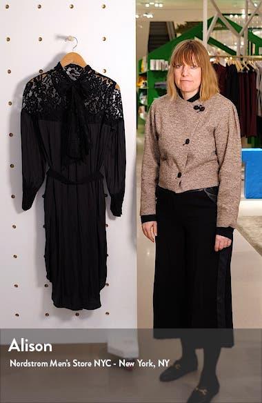 Lace Panel Long Sleeve Dress, sales video thumbnail