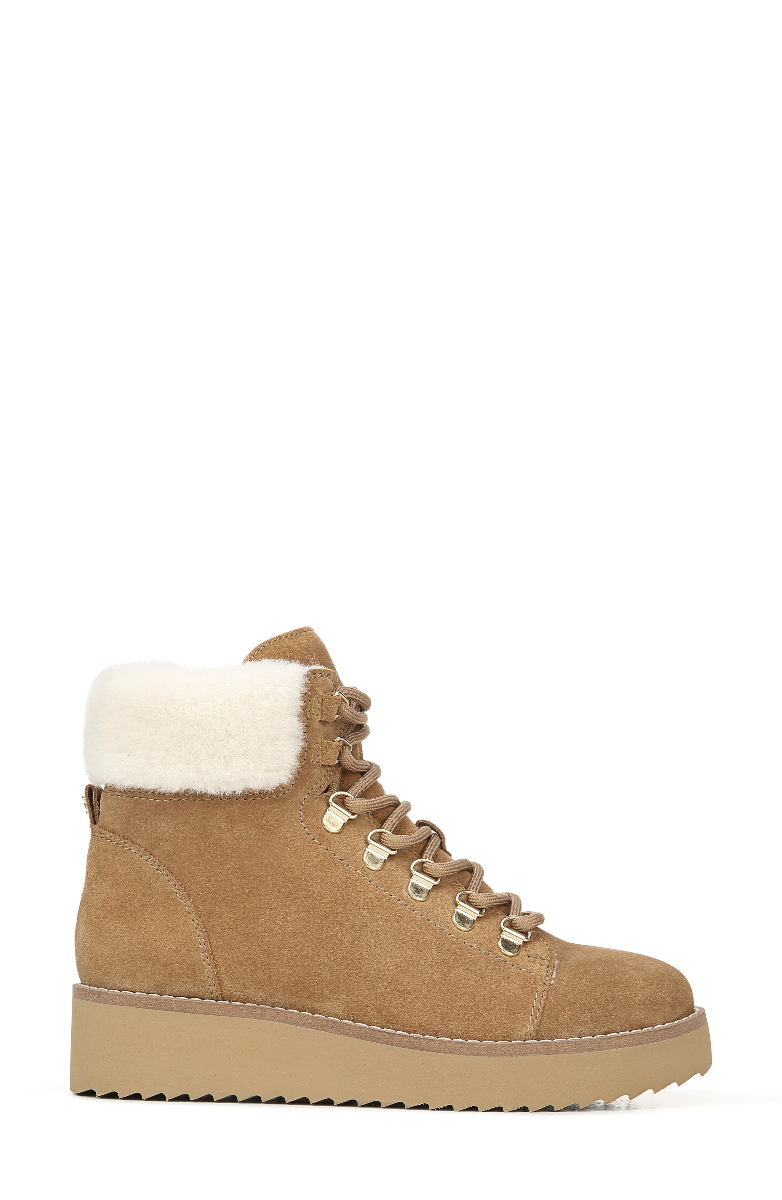 Sam Edelman Boots Franc Hiking Boot with Faux Shearling Trim