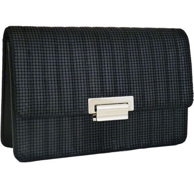 Whiting & Davis Sydney Quilted Clutch - Black