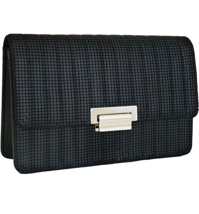 WHITING & DAVIS Sydney Quilted Clutch, Main, color, MATTE BLACK