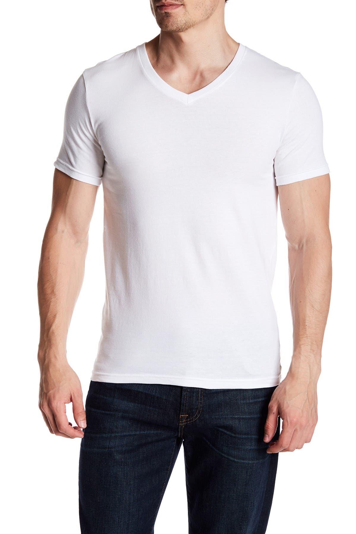 Nordstrom Rack Stretch Cotton V-Neck T-Shirt - Pack of 3 at Nordstrom Rack