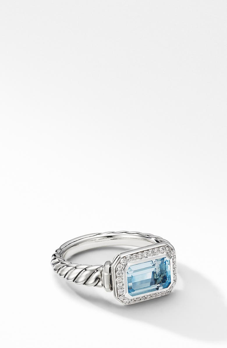 DAVID YURMAN Novella Baguette Ring, Main, color, SKY BLUE TOPAZ