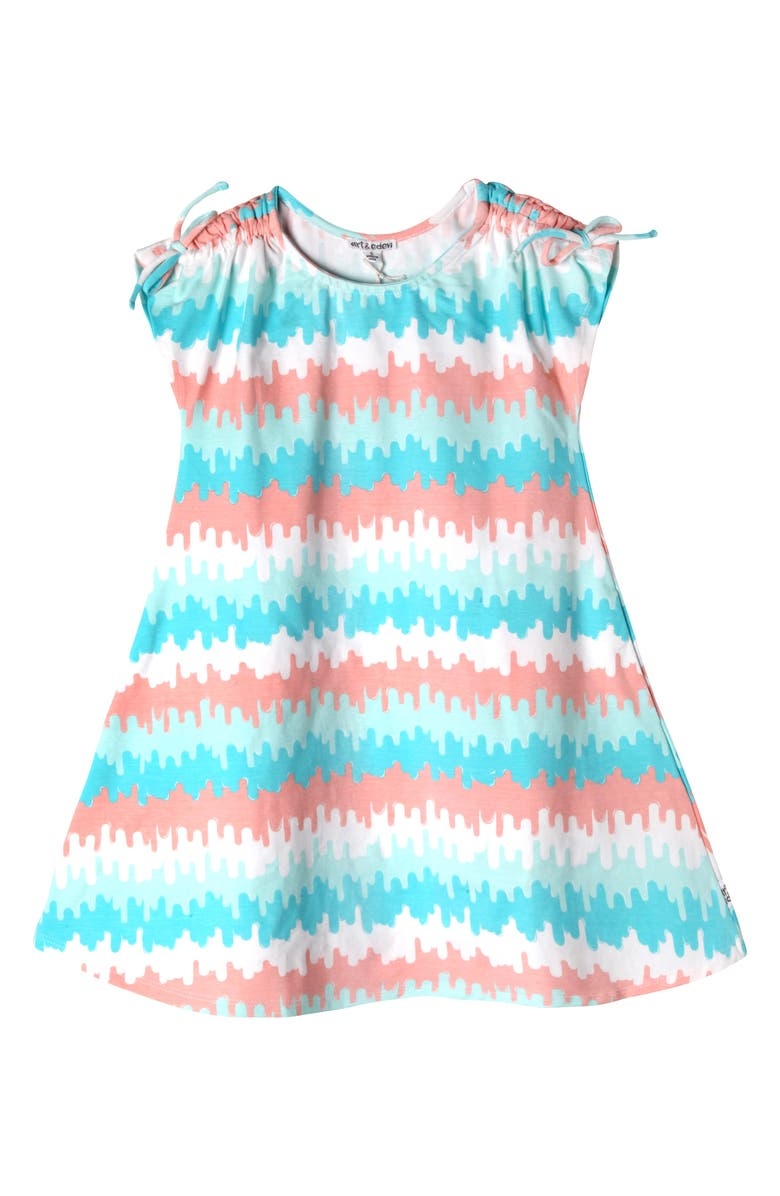 ART & EDEN Amanda Wave Stripe Dress, Main, color, WAVE STRIPE