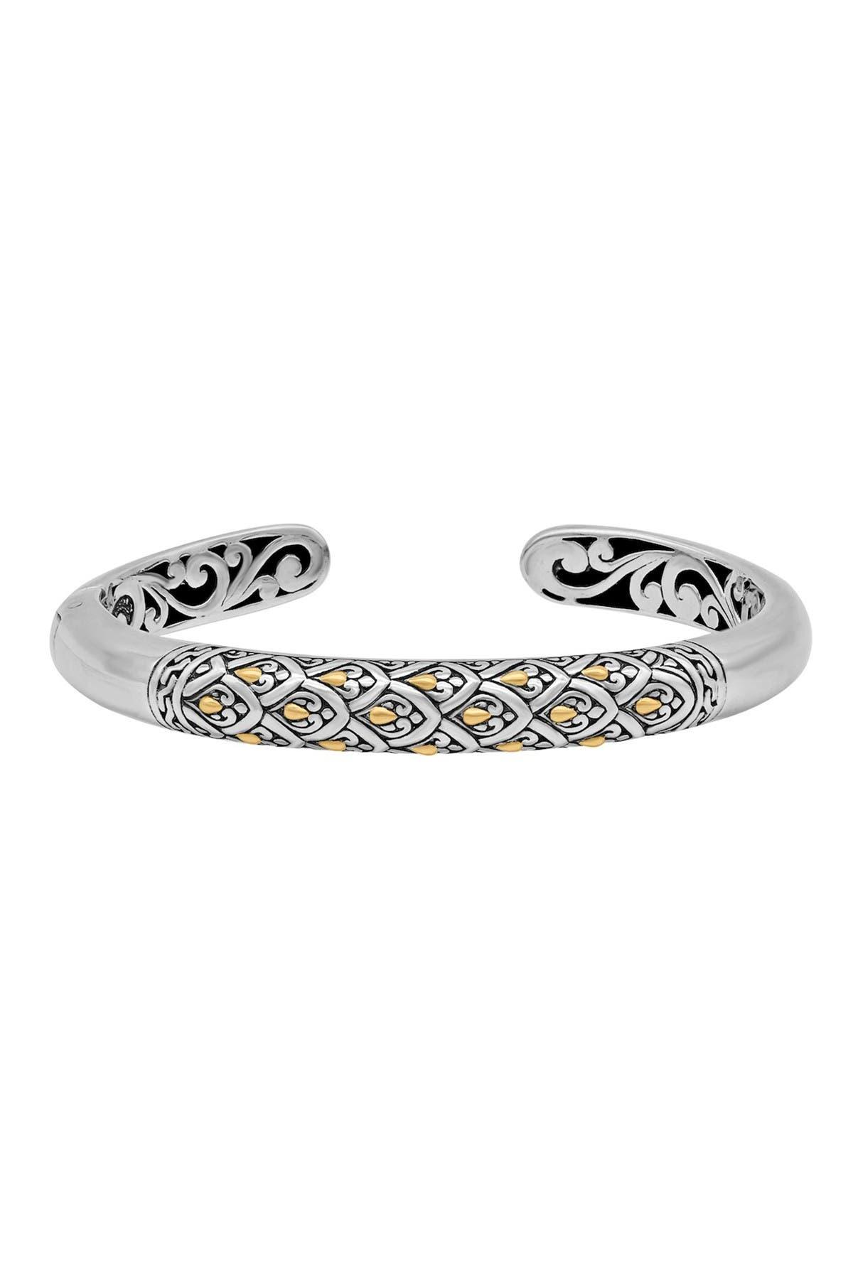 Image of DEVATA 18K Gold Accented Sterling Silver Cuff Bracelet