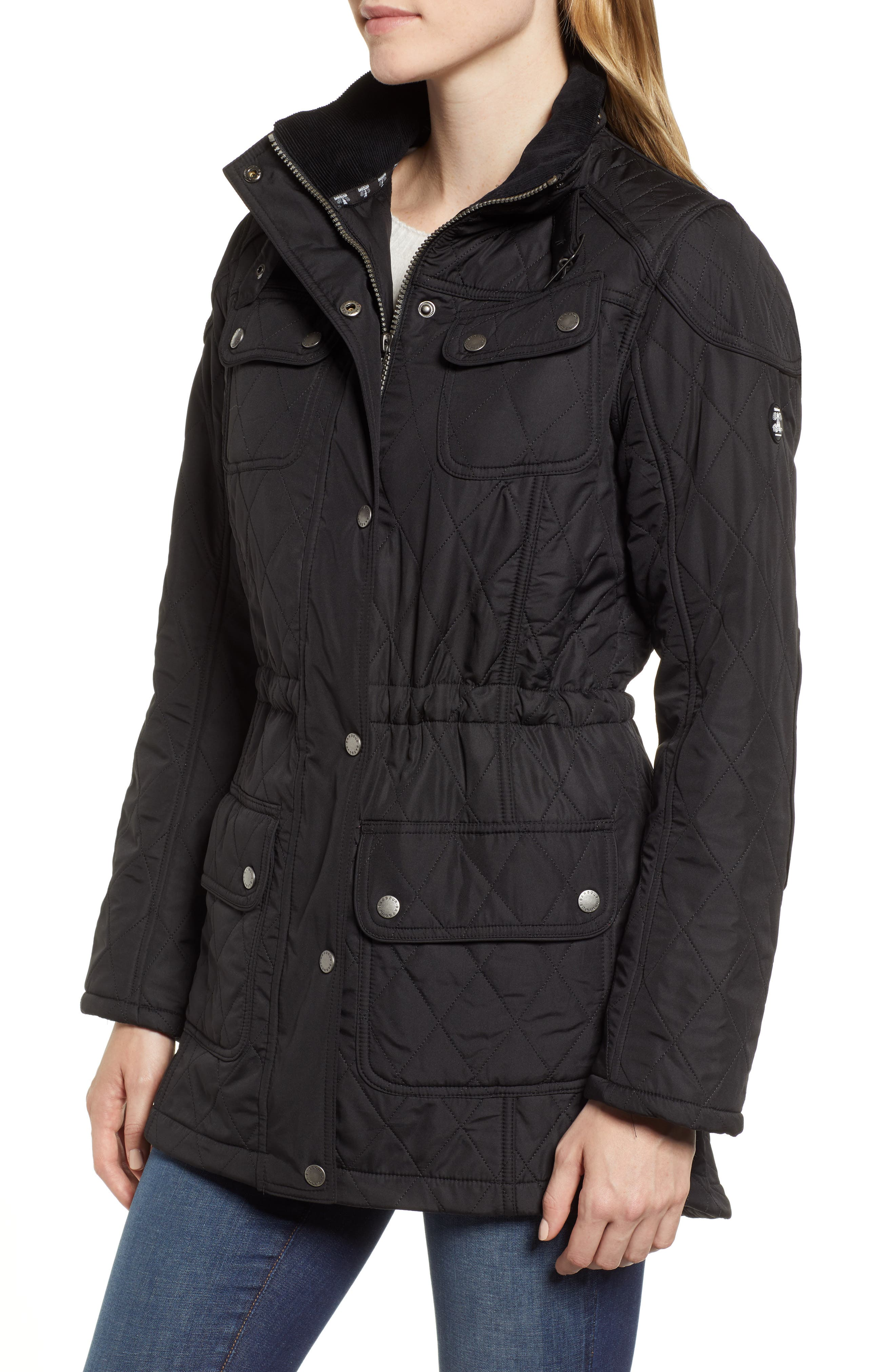 ,                             'Arrow' Quilted Anorak,                             Alternate thumbnail 11, color,                             001