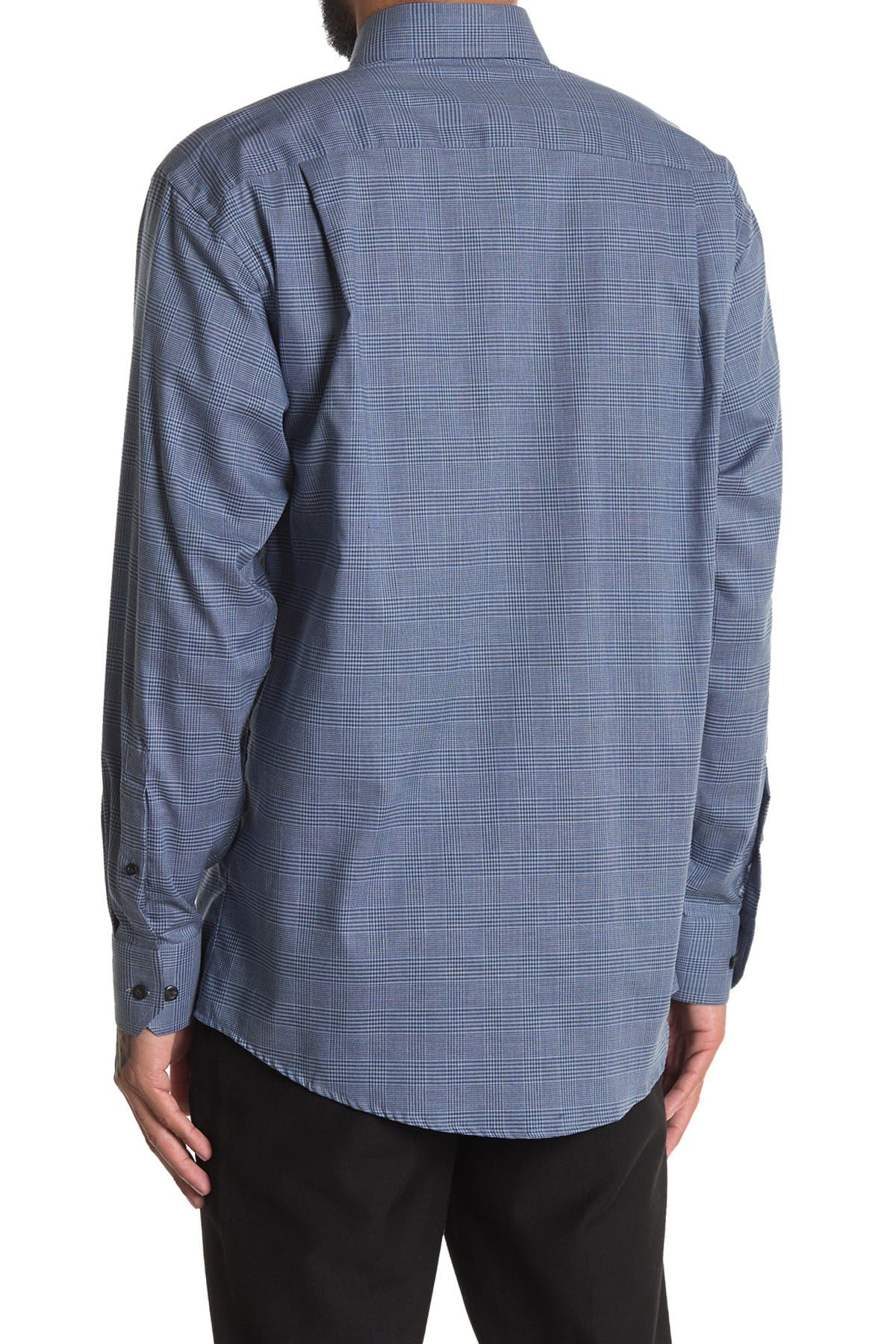 Image of Eton Check Print Classic Fit Dress Shirt