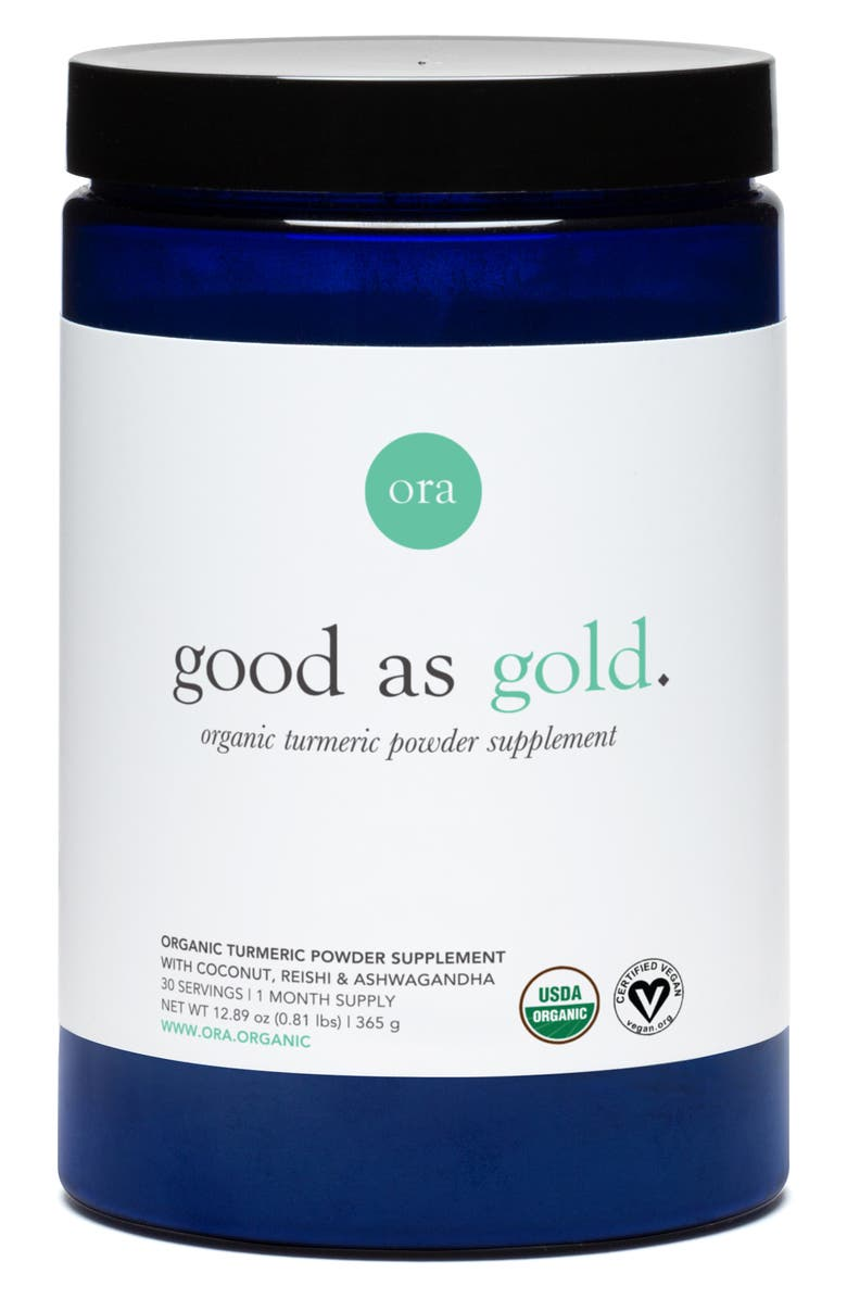 ORA ORGANIC Good as Gold Organic Turmeric Powder Dietary Supplement, Main, color, NO COLOR