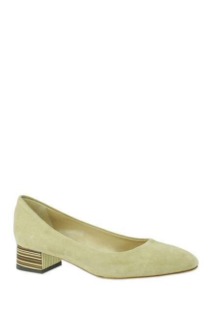 Image of RON WHITE Evonya Art Deco Block Heel Pump