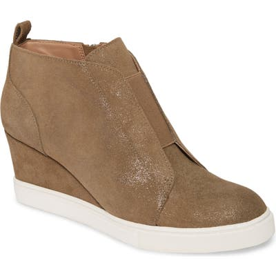 Linea Paolo Felicia Wedge Bootie, Brown