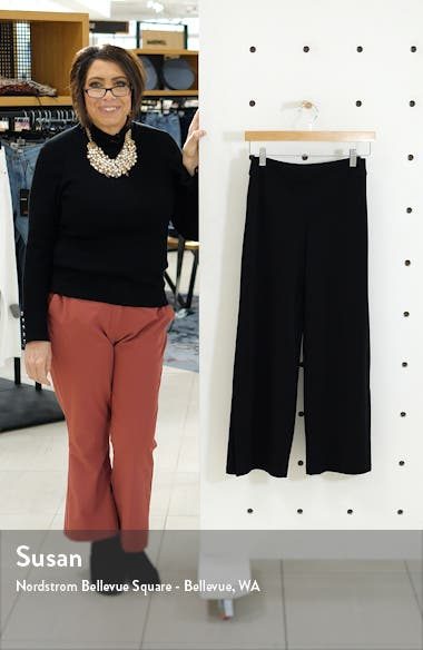 Flare Vent Crop Wide Leg Pants, sales video thumbnail