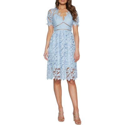 Bardot Ricko Lace Dress, Blue
