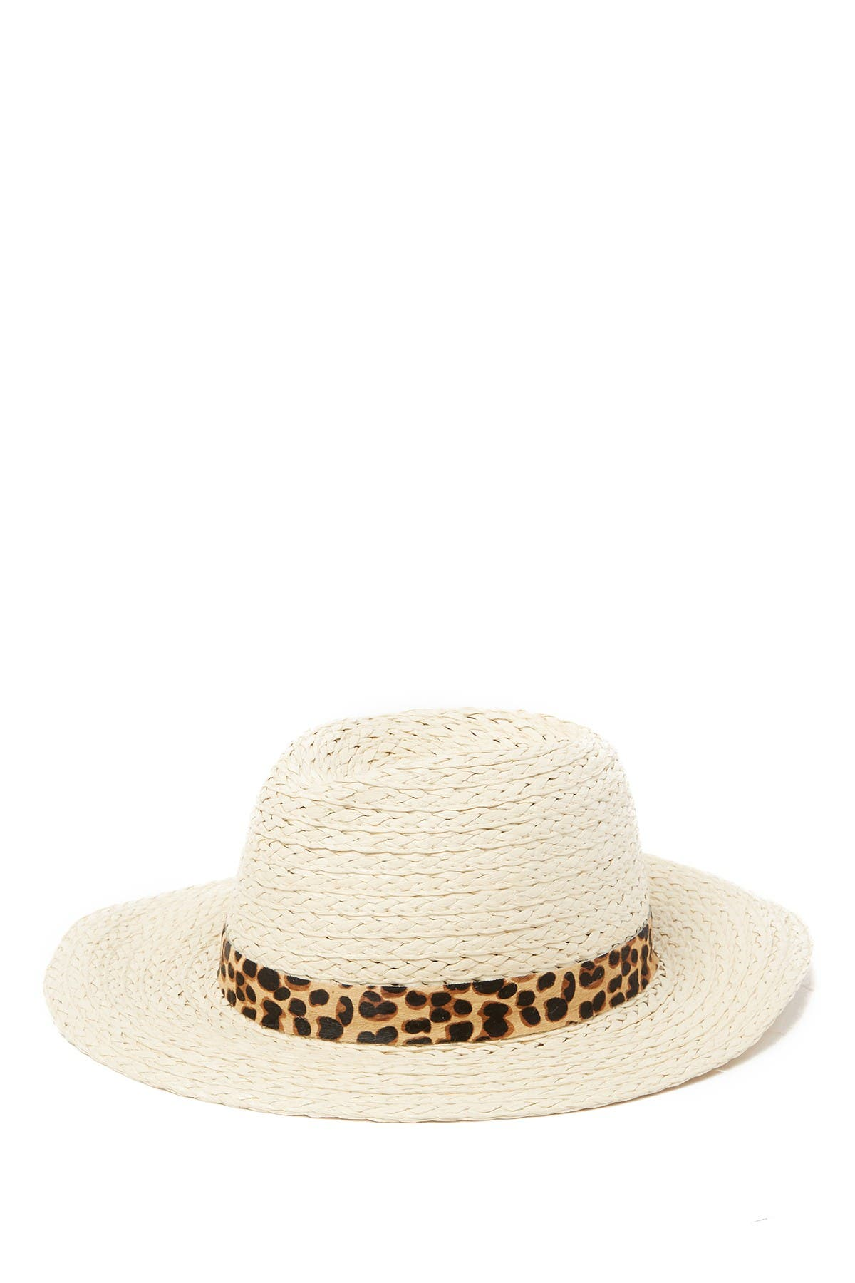 Image of Vince Camuto Genuine Calf Hair Banded Panama Hat