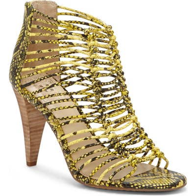 Vince Camuto Alsandra Strappy Cage Sandal- Yellow