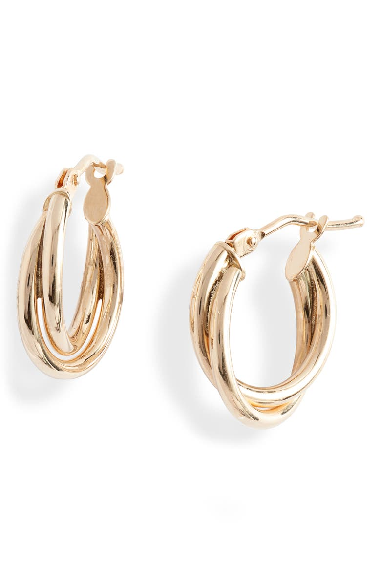 BONY LEVY 14K Gold Open Twisted Rope Hoop Earrings, Main, color, YELLOW GOLD