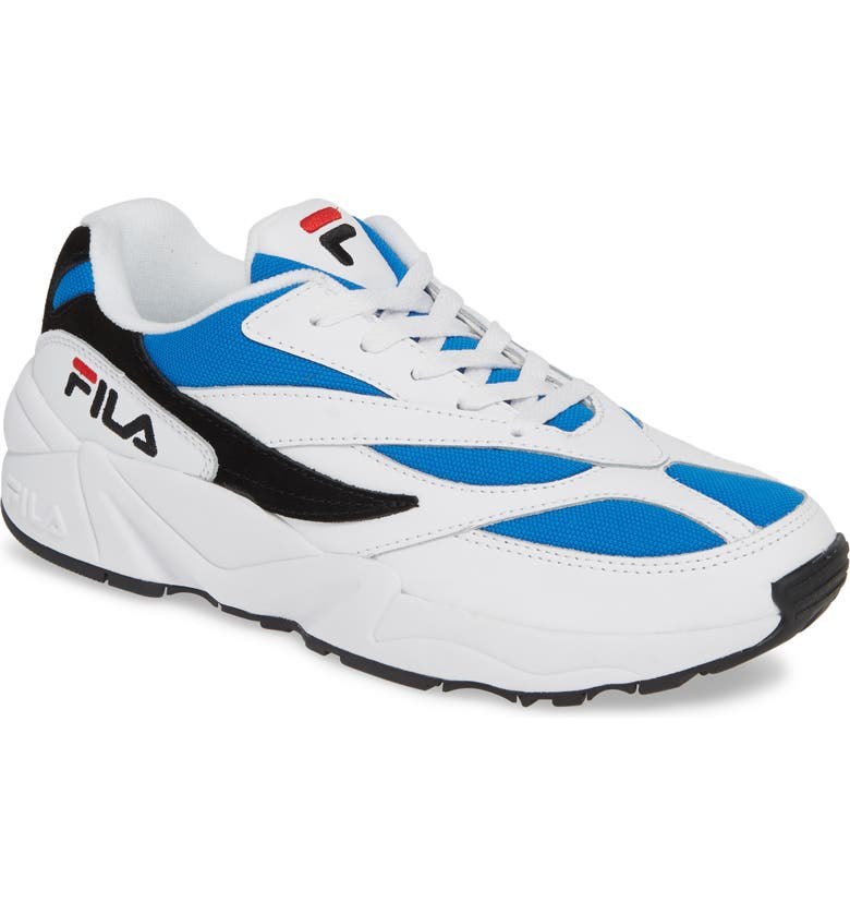 FILA V94M Sneaker, Main, color, WHITE/ BLUE/ BLACK