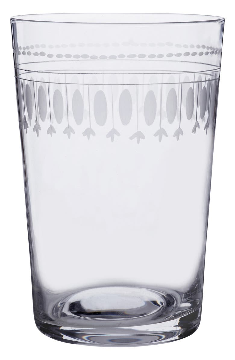 THE VINTAGE LIST Ovals Set of 6 Tumblers, Main, color, CLEAR