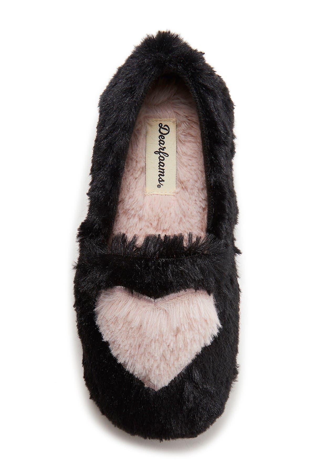 Dearfoams Mia Faux Fur Slipper
