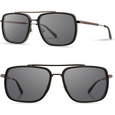 Shwood Grant 55Mm Polarized Sunglasses - Black/ Gunmetal