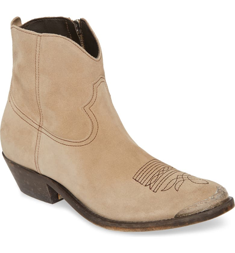 GOLDEN GOOSE Young Western Boot, Main, color, MUD SUEDE