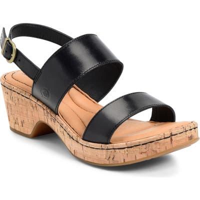 B?rn Atzel Block Heel Sandal, Black