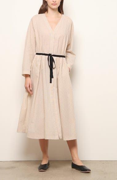 Belted Long Sleeve Midi Dress, video thumbnail