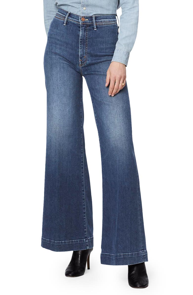 MOTHER The Swooner Roller High Waist Wide Leg Jeans, Main, color, 420
