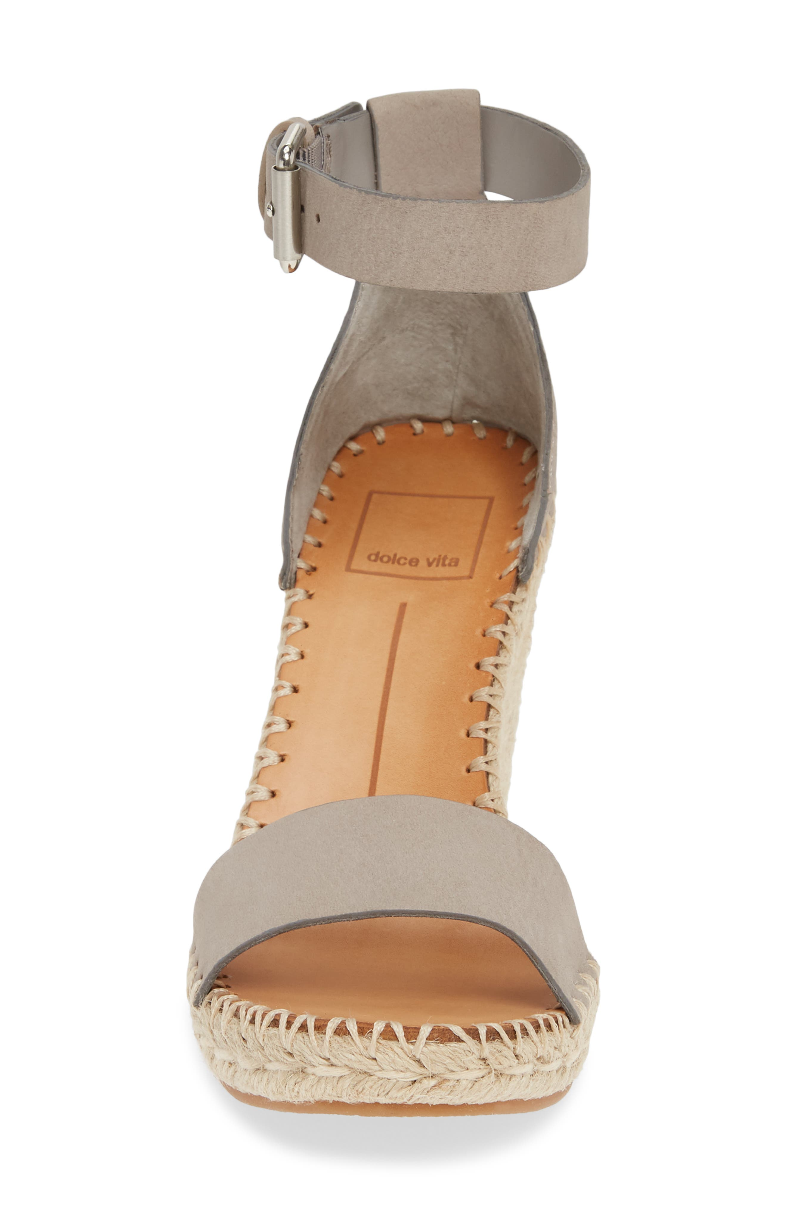 ,                             Noor Espadrille Wedge Sandal,                             Alternate thumbnail 4, color,                             020