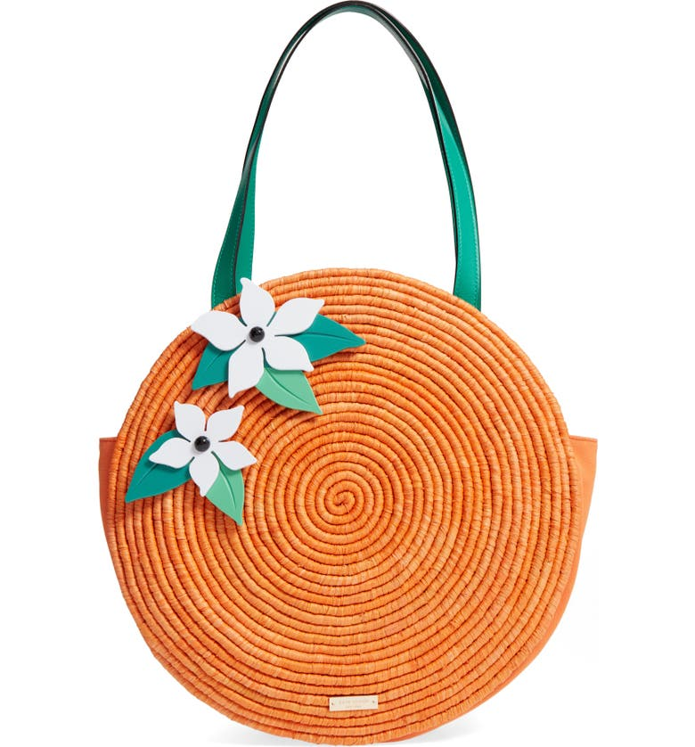 KATE SPADE NEW YORK spice things up orange tote, Main, color, 800