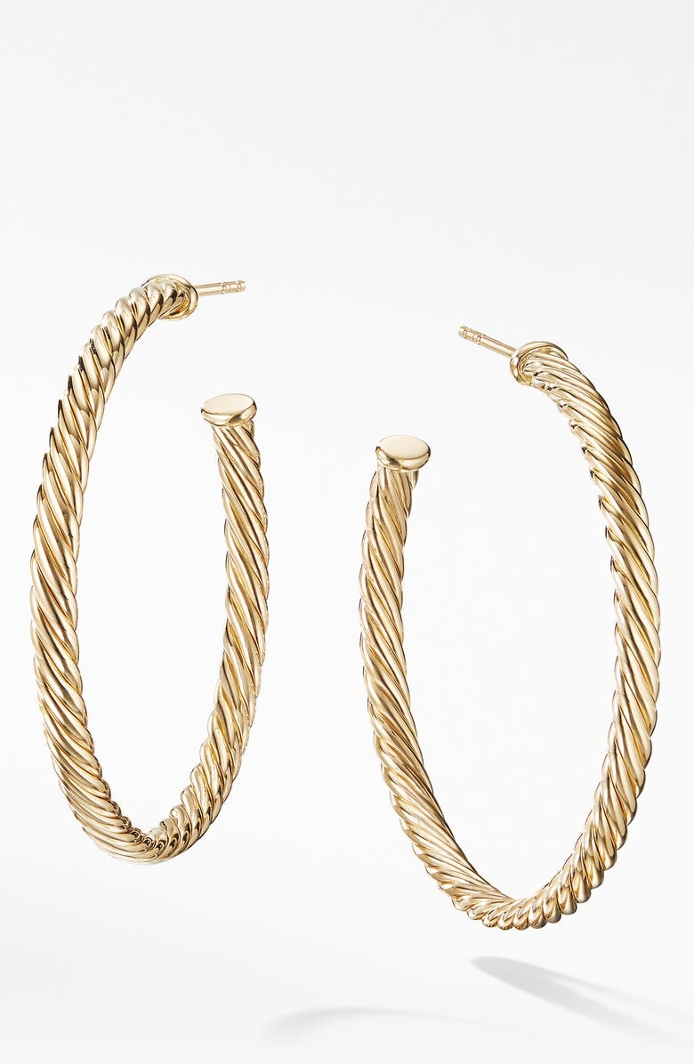 DAVID YURMAN Cable Spiral Hoop Earrings, Main, color, 710