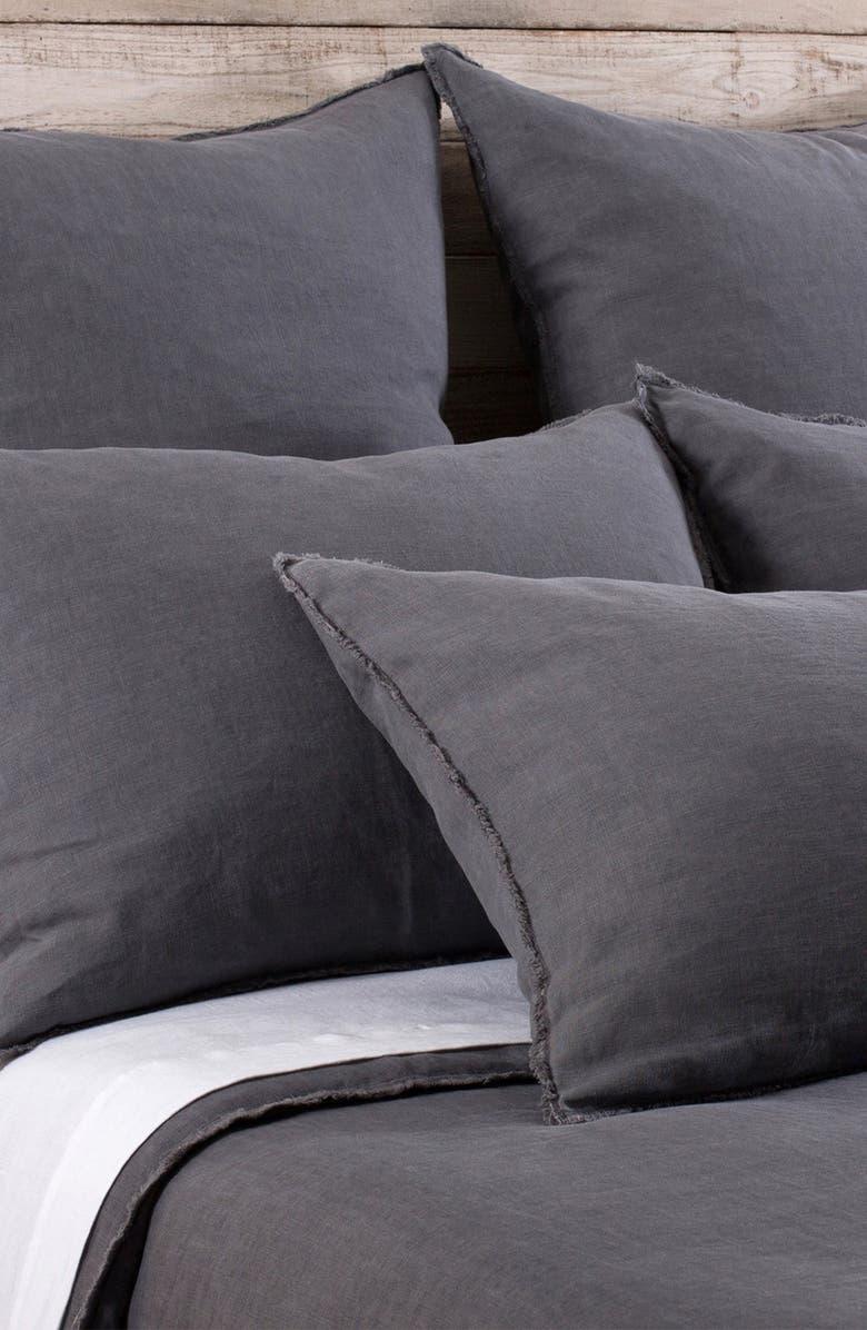 POM POM AT HOME 'Blair' Linen Duvet Cover, Main, color, MIDNIGHT