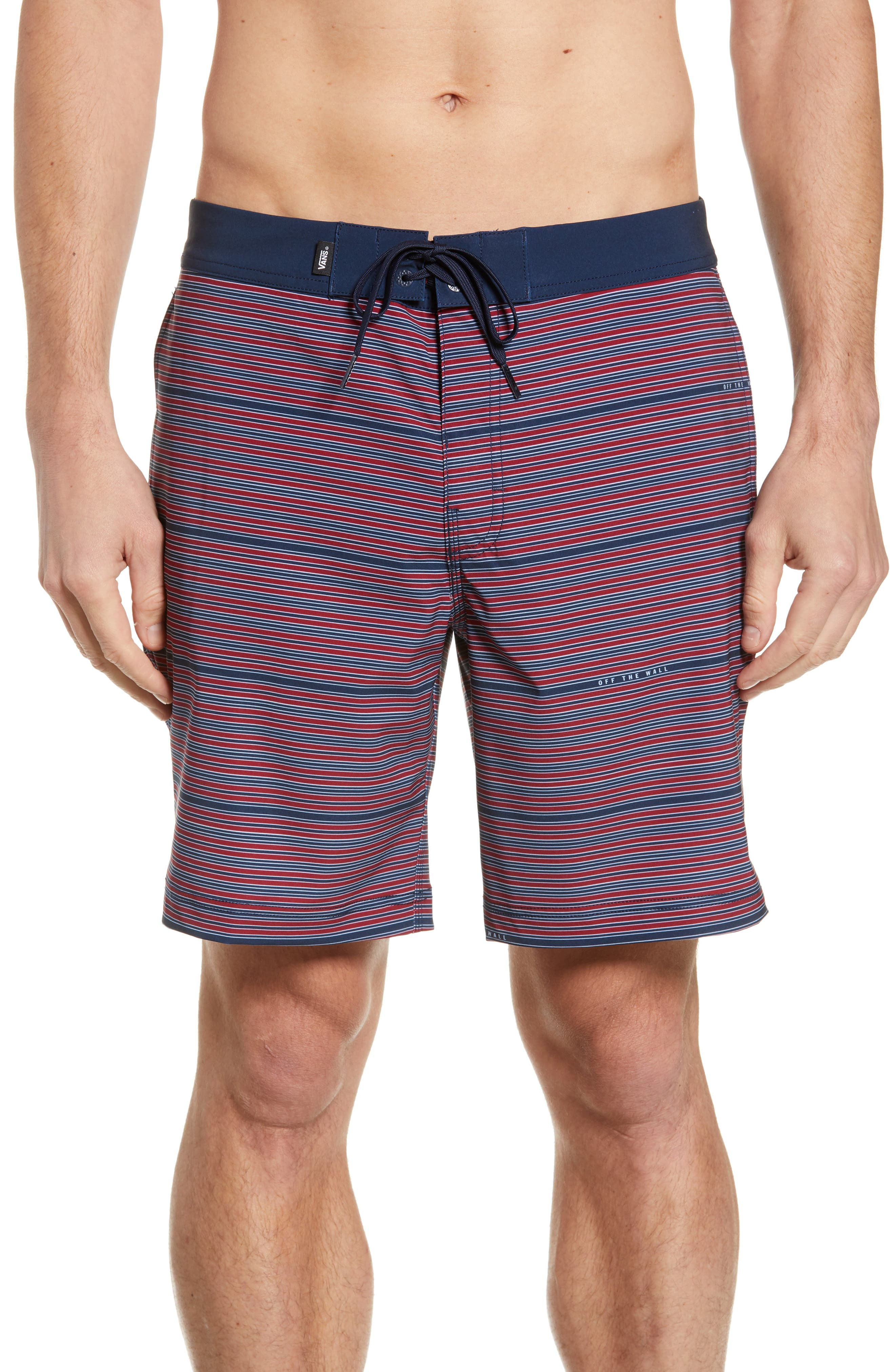 Vans Back Patio Board Shorts, Red