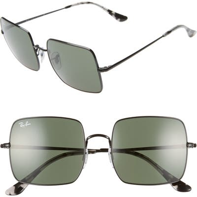Ray-Ban 5m Square Sunglasses - Black/ Black Solid