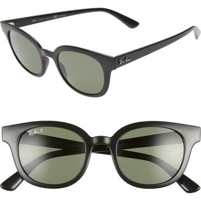 Ray-Ban 50Mm Polarized Square Sunglasses - Black