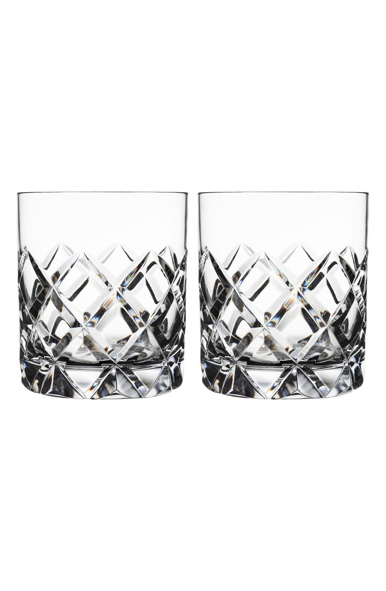 ORREFORS Sofiero Set of 2 Crystal Old Fashioned Glasses, Main, color, CLEAR