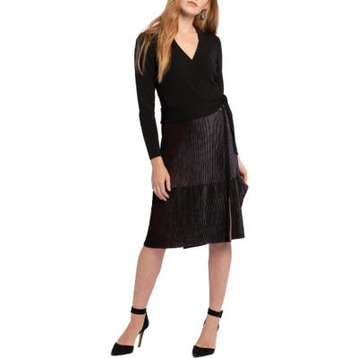 Nic+Zoe Invite Only Long Sleeve Dress, Black