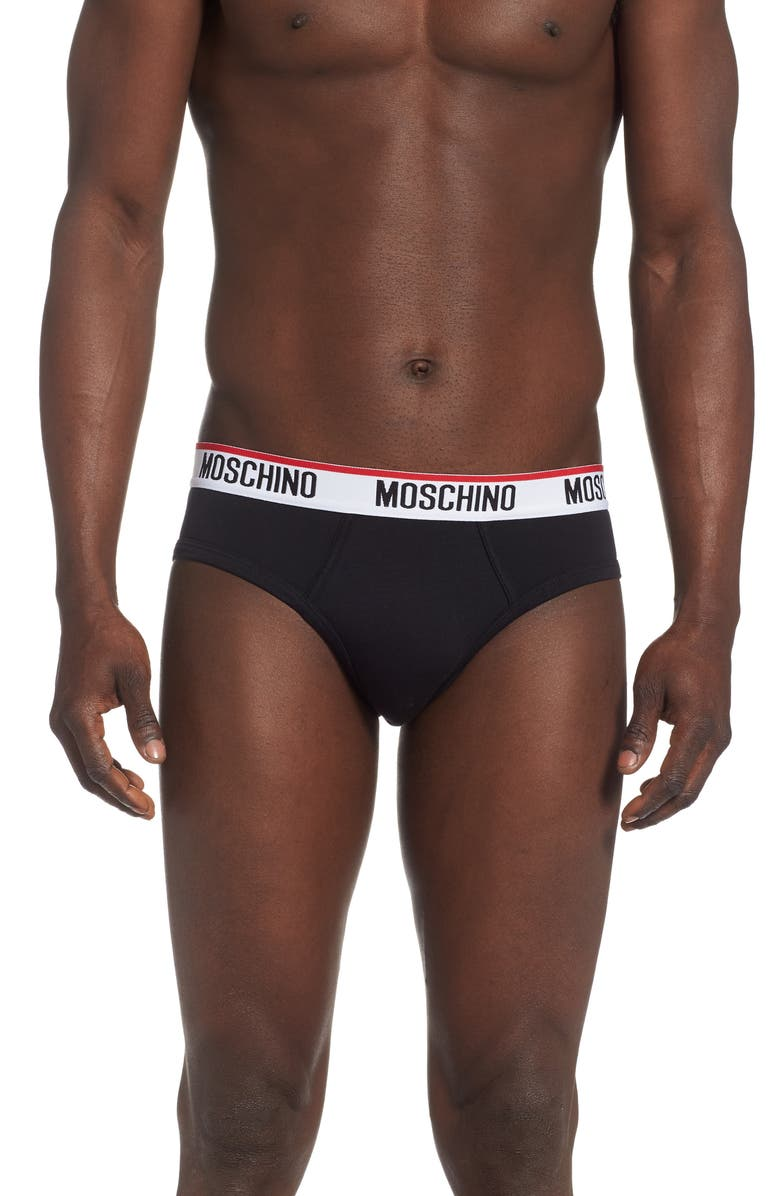 MOSCHINO Briefs, Main, color, BLACK