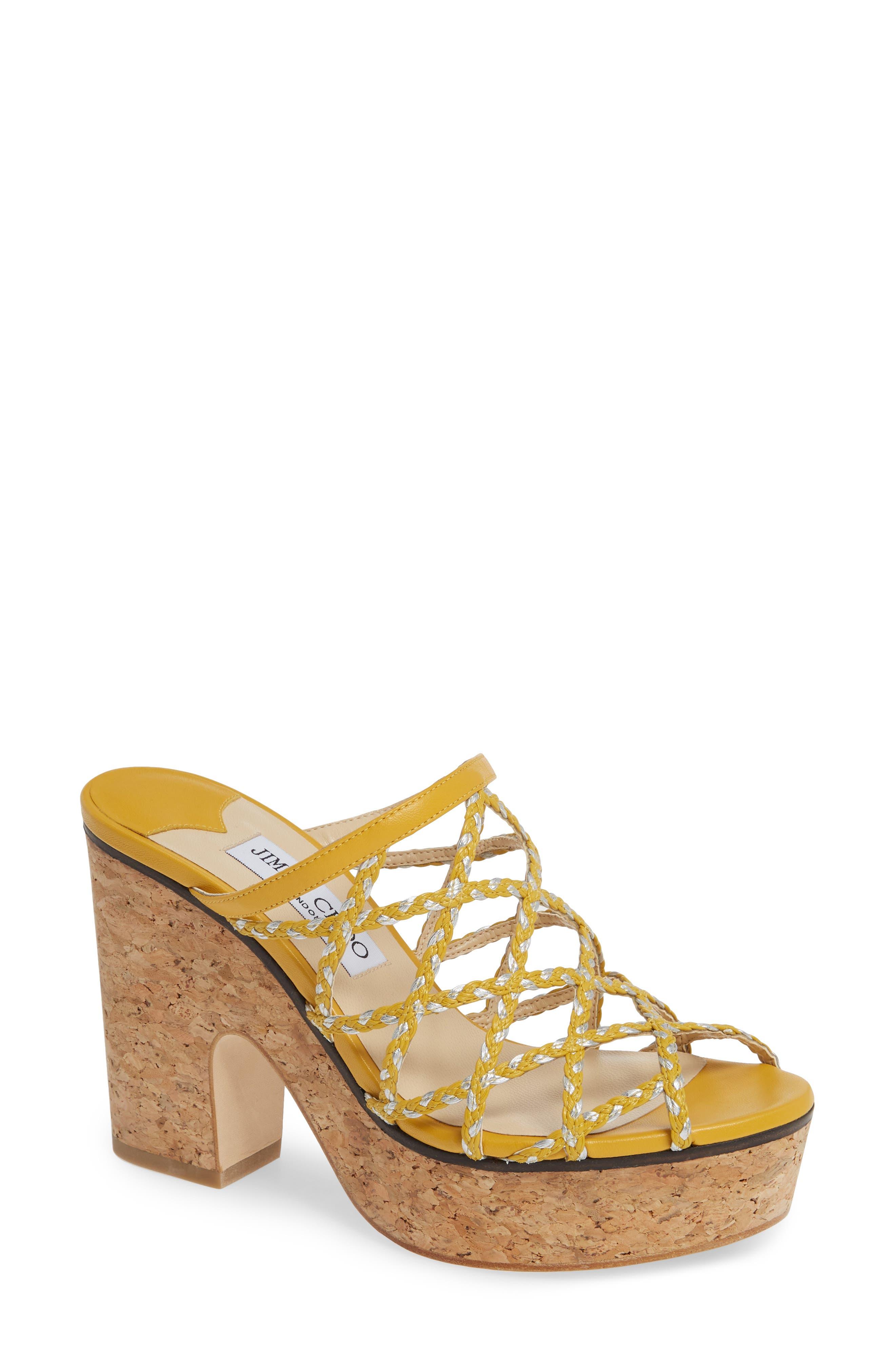 Jimmy Choo Dallina Platform Slide Sandal, Yellow