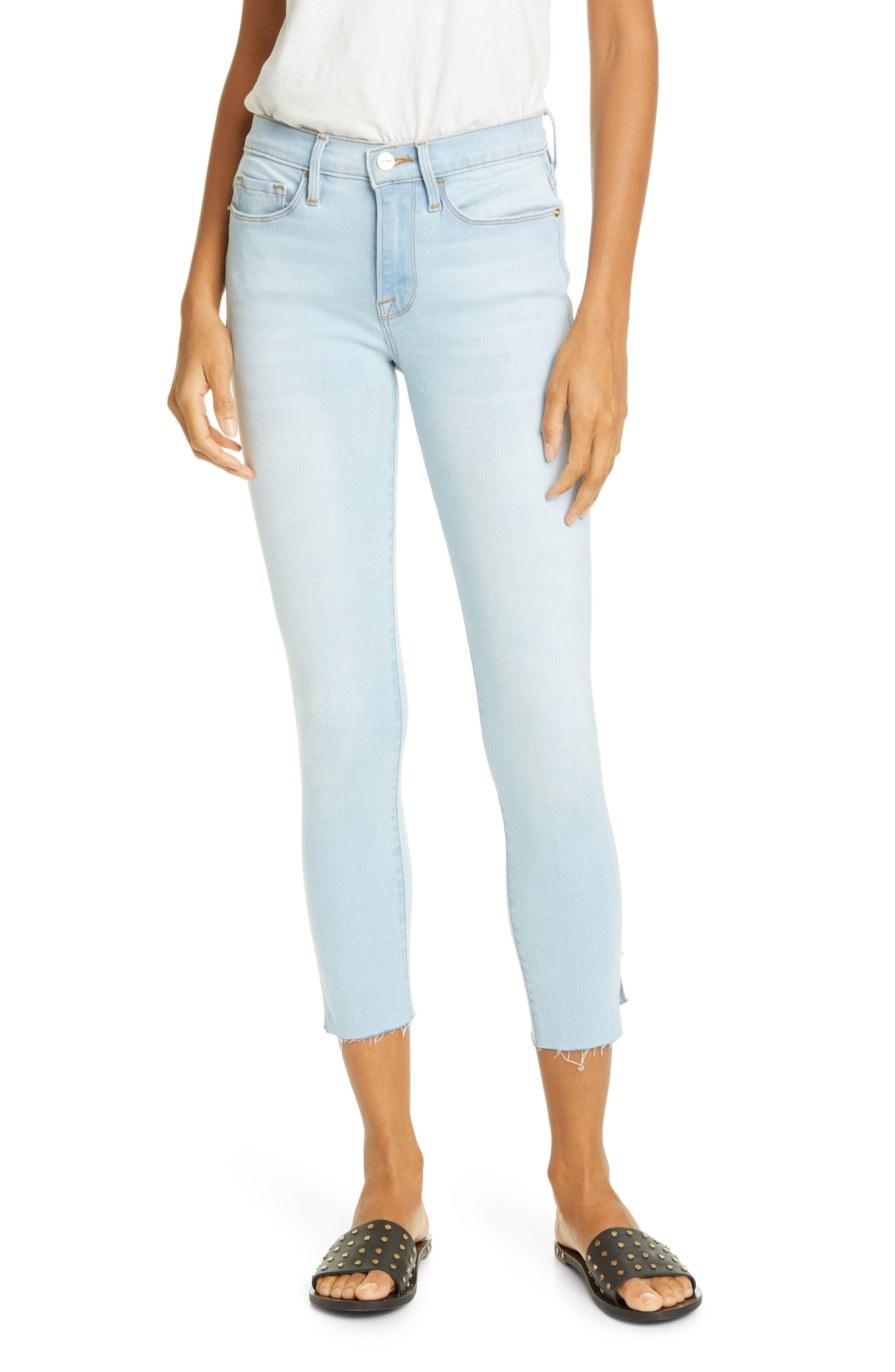 FRAME Le Skinny de Jeanne Ankle Skinny Jeans (Pacifica)   Nordstrom