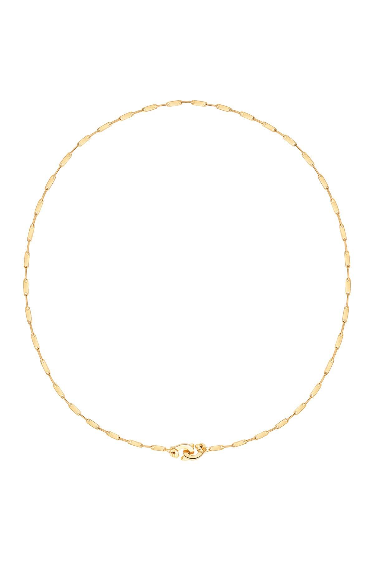 Image of Gabi Rielle 14K Yellow Gold Vermeil Handcuff Chain Choker Necklace