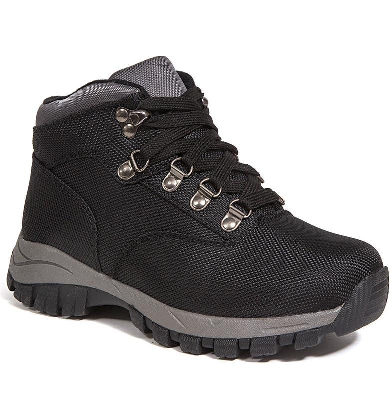 DEER STAGS Walker Thinsulate Waterproof Hiking Boot, Main, color, BLACK