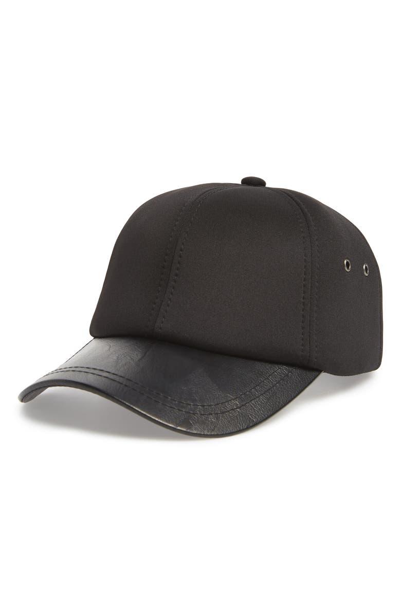SWEAT ACTIVE Six Panel Baseball Cap, Main, color, BLACK