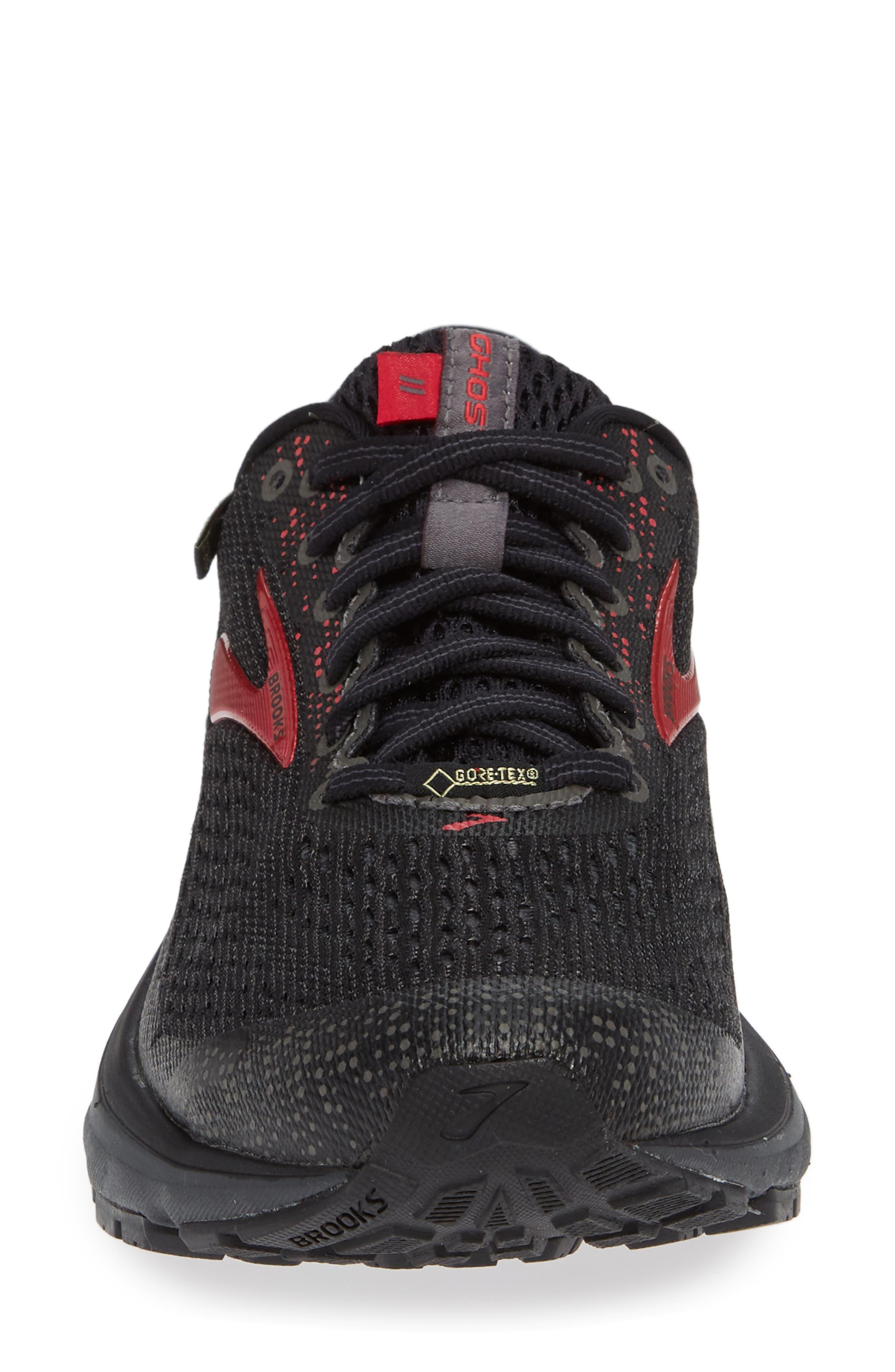 ,                             Ghost 11 GTX Gore-Tex<sup>®</sup> Waterproof Running Shoe,                             Alternate thumbnail 4, color,                             BLACK/ PINK/ EBONY