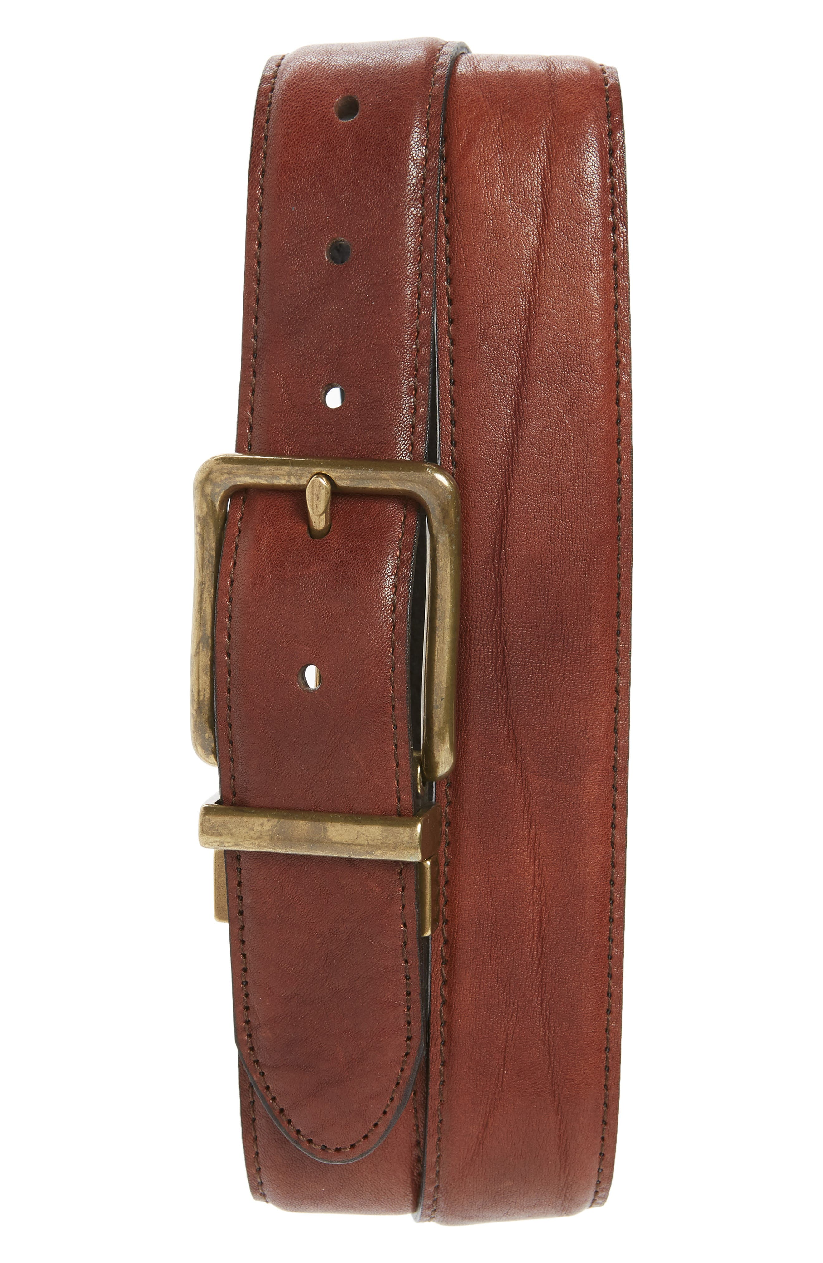 Reversible Washed Leather Belt