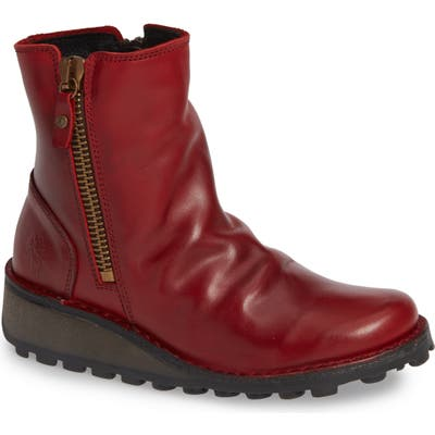 Fly London Mong Boot, Red