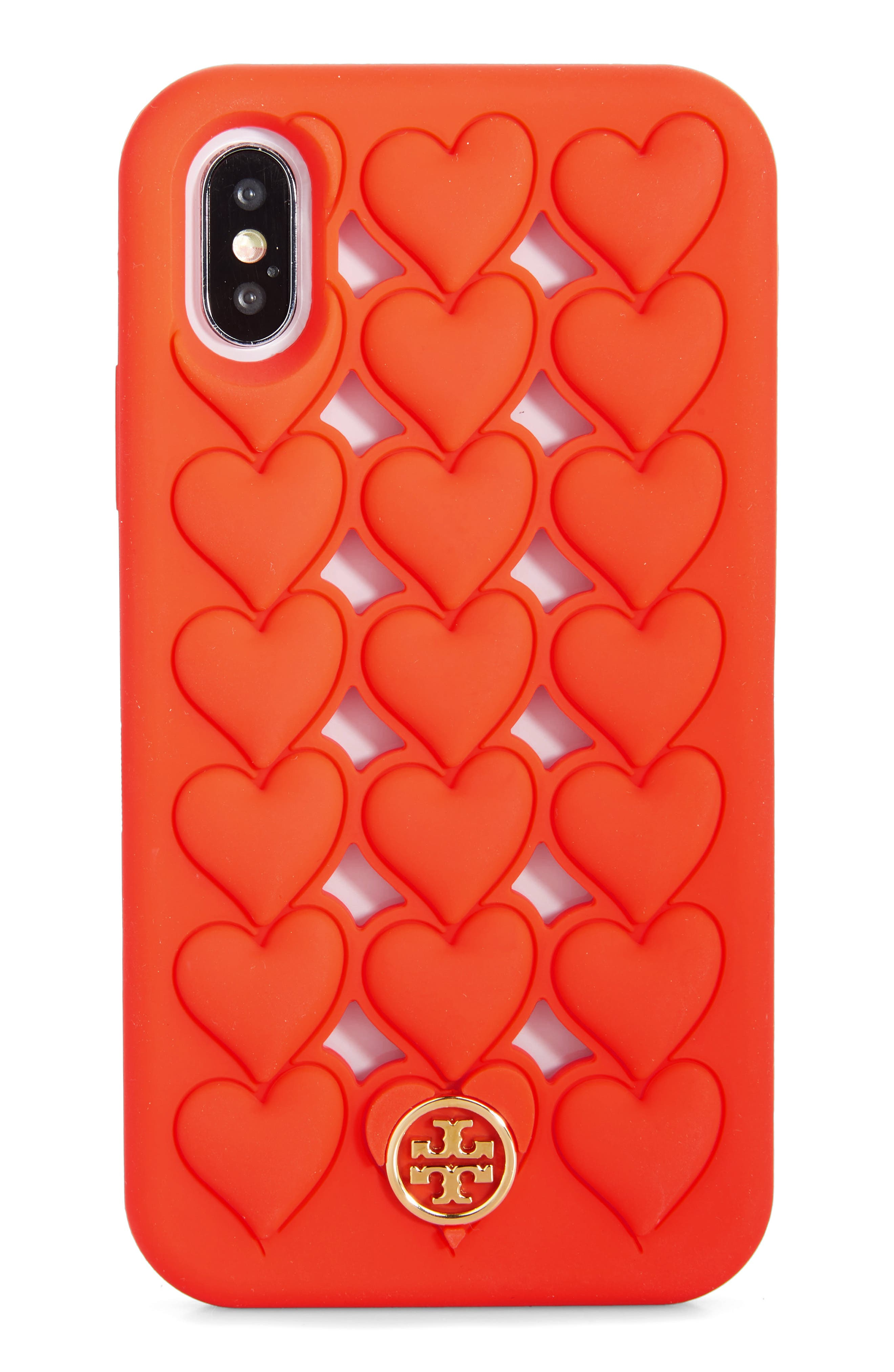 Tory Burch Bags Hearts Silicone iPhone X/Xs Case
