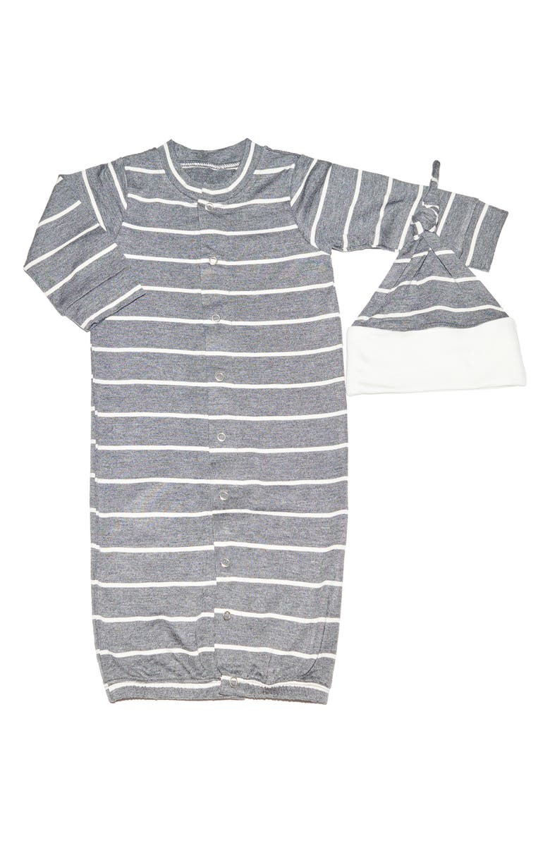 BABY GREY Convertible Gown & Hat Set, Main, color, 028