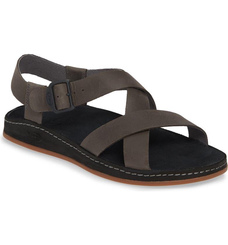 CHACO Wayfarer Strappy Sandal, Main, color, TORNADO LEATHER